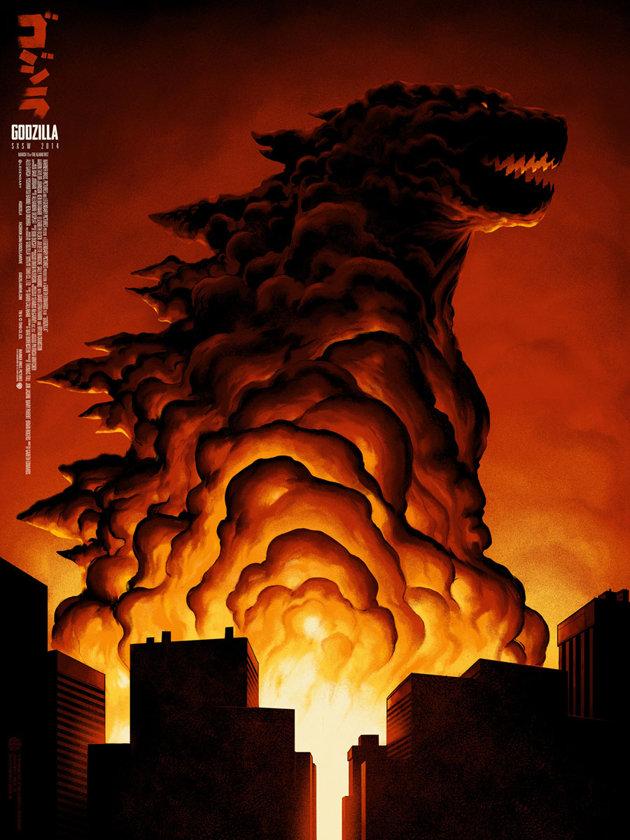 Godzilla poster by Phantom City Creative