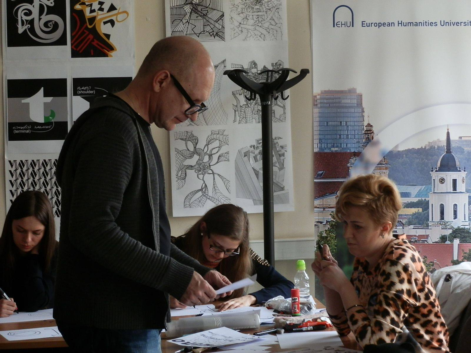 Yuri Gulitov poster workshop in Lithuania