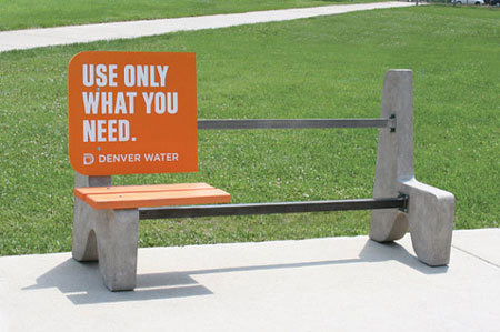 creative-street-advertisement-Denver-water-conservation-bench