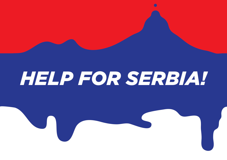 Poster Serbia Help by Borko Nerić
