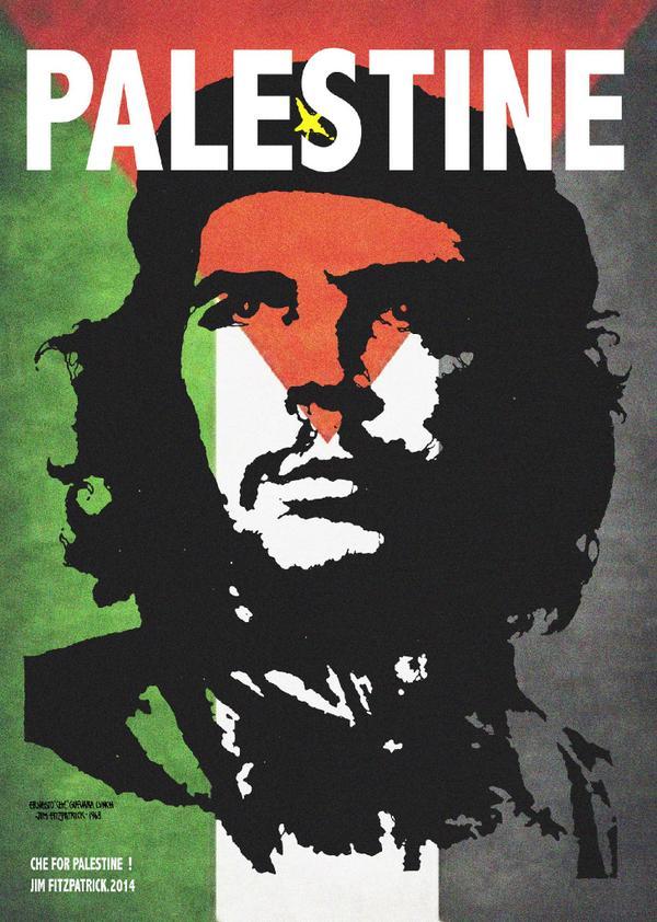 New Che Poster for Palestine – jim fitzpatrick