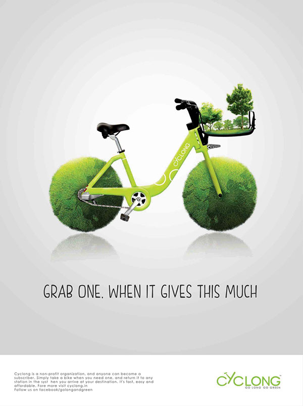 Ride a bike! Bicycle campaigns