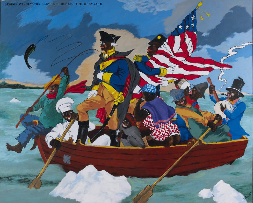 Colescott__George_Washington_Carver_Crossing_the_Delaware-Website_Hero_-_700px_H_(72dpi)